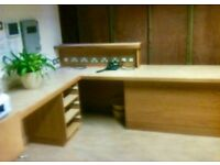Oak Reception desk / office desk