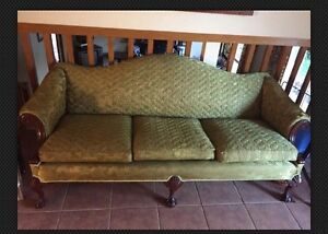 Genuine Antique green lounge three seater couch. Great condition! Cronulla Sutherland Area Preview