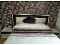 King size storage bed with dressing table and 2 bed side cabinets