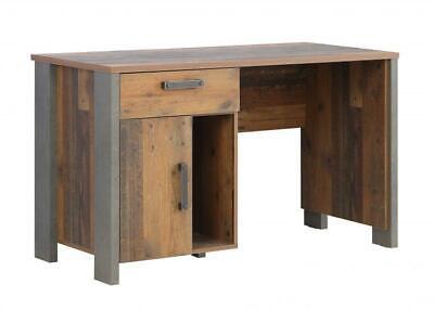 Schreibtisch CLIF von Forte Old-Wood Vintage / Beton