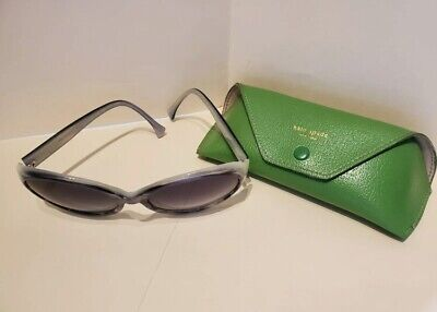 Kate Spade New York HADLEY/S y34 Sunglasses with Green Pebble Leather Case