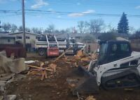 Demolition excavating & complete material haul-away! Free quotes