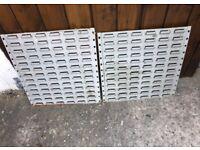 Garage Lin Bin Tool/Screws/Bit Wall Hanging Storage x2