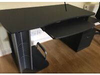 Large desk/office work station with drawers and swivel Ikea chair, great for students, vgc