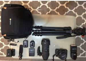 Canon D70 with some accessories