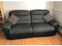 Electric 3 seater sofa - Black/Grey/Red