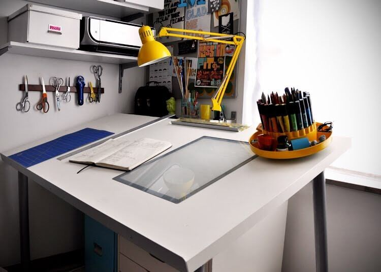 Great Rare Artist Animation Architect Tracing Drawing Drafting Table Desk Top  IKEA VIKA BLECKET
