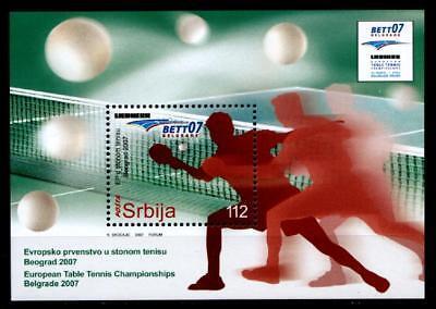 Tischtennis-Europameisterschaften, Belgrad. Block. Serbien 2007