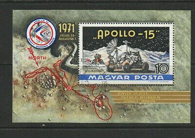 HUNGARY 1972  Moon Flight of Apollo 15  sgMS2646    cto Used - A1829