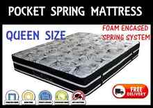BRAND NEW Queen Size Pocket Spring Pillow Top Mattress DELIVERED New Farm Brisbane North East Preview