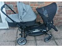£180 - Obaby Zoom - double pushchair/pram/buggy system