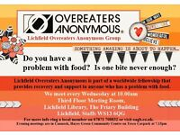 Do you have a problem with food? Overeaters Anonymous provides lifetime support with no fees/diets!