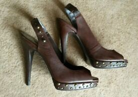 Ladies NEXT leather heels size7