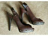 NEXT leather heels, size UK 7