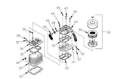 Champion M2087 Cylinder For Rv-15 Rv-30 Pump Air Compressor Parts