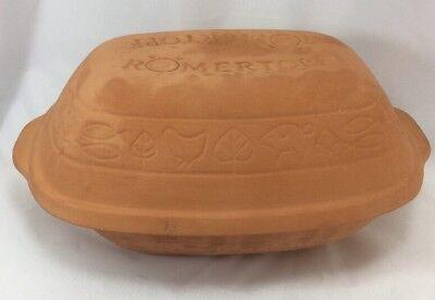 (Romertopf #110 Terra Cotta Clay Oval Baking Roaster Reco)