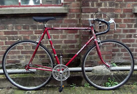 Single speed bike VISCOUNT frame 23inch built BY US NEW TYRES, DICTA 18T, CHAIN, BRAKES , PEDALS