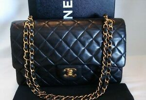 "Authentic Chanel Classic Quilted 2.55 Double Flap 24k 10"" Bag Hampton Bayside Area Preview"
