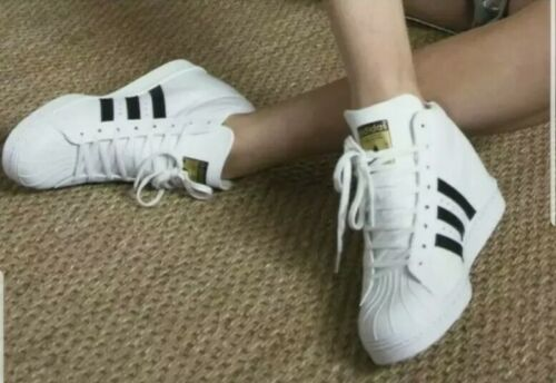Adidas Superstar Up Wedge FW0118 Women's Shoes Cloud White-Core Black