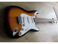 Fender Squier Stratocaster Strat 22 fret full thickness body