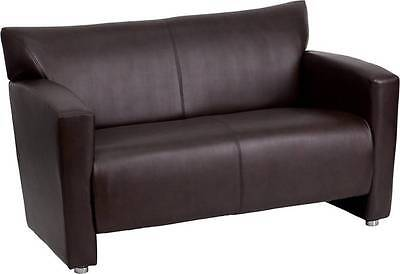 Lot Of 2 Hercules Majesty Series Brown Leather Love Seat