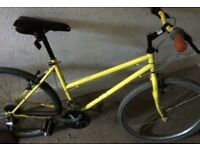 Yellow mountain bike for sale open to offers