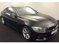 Black BMW 420d M Sport Coupe 184 BHP 2 door 2014 FROM £83 PER WEEK!