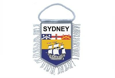 club flag mini country car decoration souvenir coat of arms sydney australia for sale  Shipping to United States