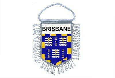 club flag mini country car decoration souvenir coat of arms brisbane australia for sale  Shipping to United States