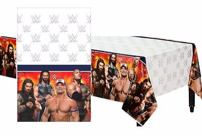 WWE Wrestling Bash Plastic Table Cover ~ Boys Birthday Party Decoration Supplies - Wwe Birthday Party Supplies