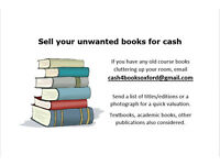 Sell your unwanted books - textbooks - course books
