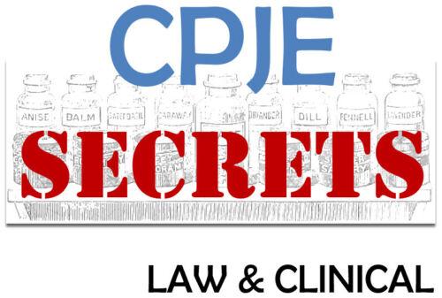 2020 CPJE SECRETS Study Guide. Complete LAW & CLINICAL (PDF)