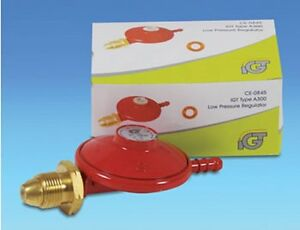 LPG Propane Gas 37 mbar Low Pressure Red Regulator - Boiling Ring, Camping, BBQ