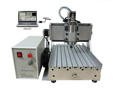Usb Port 1500w Mini Cnc Router 3020 Z-vfd 3axis Wood Pcb Milling Machine