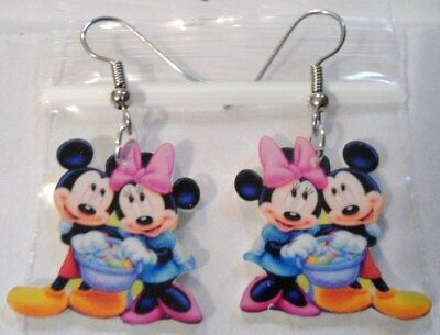 Mickey Minnie Mouse Earrings Easter Basket Charms