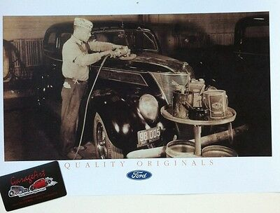 "1930's Ford Detroit Hall Dodds Body Shop Reprint 11x17"" Photo Garage Decor"