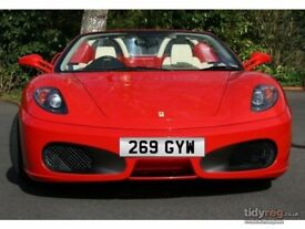 269 GYW Cherished Registration Number Plate Dateless Classic 269 GYW Car Reg On Retention