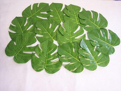 LUAU table DECORATIONS 12 LARGE NATURAL PALM TROPICAL LEAVES