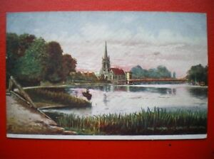 POSTCARD-BUCKINGHAMSHIRE-GREAT-MARLOW-THE-THAMES-CHURCH-IN-BACK