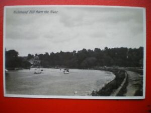POSTCARD-RP-MIDDLESEX-RICHMOND-HILL-FROM-THE-RIVER-1930S