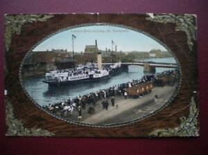 POSTCARD-RP-NORFOLK-GREAT-YARMOUTH-THE-LONDON-BOAT-ARRIVING