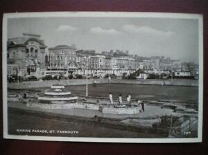 POSTCARD-RP-NORFOLK-GREAT-YARMOUTH-MARINE-PARADE