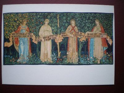 POSTCARD RP RELIGIOUS THE ORCHARD - DESIGNED BY W MORRIS & J DEARLE