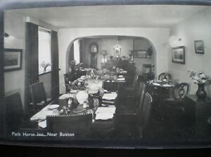 POSTCARD-DERBYSHIRE-BUXTON-THE-PACK-HORSE-INN-DINING-ROOM