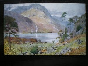 POSTCARD-HEAD-OF-BUTTERMERE-WATER-COLOUR-CUMBERLAND-WESTMORLAND