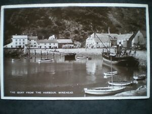 POSTCARD-RP-MINEHEAD-THE-QUAY-FROM-THE-HARBOUR