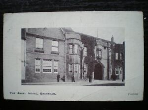 POSTCARD-RP-LINCOLNSHIRE-GRANTHAM-THE-ANGEL-HOTEL-1900S