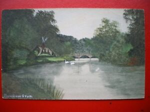 POSTCARD-OXFORDSHIRE-MAPLEDURHAM-LOVELY-OF-PAINTING-OF-THE-RIVER