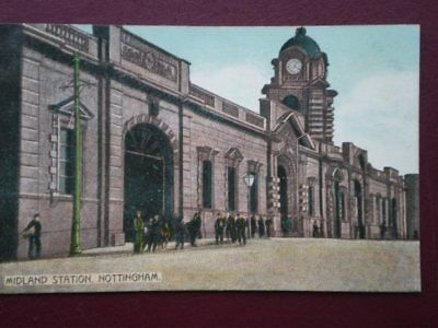 POSTCARD MIDLAND STATION - NOTTINGHAM