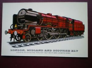 POSTCARD-LMS-CLASS-6P-LOCO-NO-6100-FORMELY-6152-ROYAL-SCOT